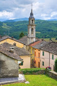 Panoramic view of Compiano. Emilia-Romagna. Italy. — ストック写真
