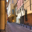 Alleyway. Bologna. Emilia-Romagna. Italy. — Stock Photo #10429821