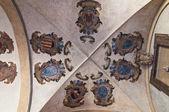波洛尼亚的室内 archiginnasio。艾米利亚-罗马涅。意大利. — 图库照片