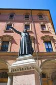 Ugo Bassi bronze statue. Bologna. Emilia-Romagna. Italy. — Stock Photo