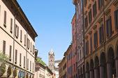 Alleyway. Bologna. Emilia-Romagna. Italy. — Stock Photo