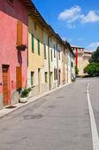 Alleyway. Montechiarugolo. Emilia-Romagna. Italy. — Stock Photo