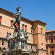 Fountain of Neptune. Bologna. Emilia-Romagna. Italy. - Stock Photo