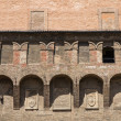Accursio Palace. Bologna. Emilia-Romagna. Italy. - Stock Photo