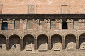 Accursio palác. Boloňa. Emilia-Romagna. Itálie. — Stock fotografie