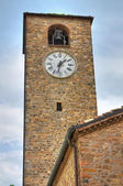 Clocktower. Fornovo di Taro. Emilia-Romagna. Italy. — Stock Photo