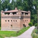 Fortress Rocca Stellata. Bondeno. Emilia-Romagna. Italy. — Stock Photo #10489450