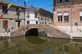Theatre bridge. Comacchio. Emilia-Romagna. Italy. — Stock Photo