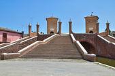 Trepponti most. comacchio. emilia-romania. włochy. — Zdjęcie stockowe