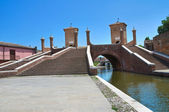 Trepponti bridge. Comacchio. Emilia-Romagna. Italy. — Stock Photo