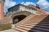Puente de policías. comacchio. emilia-romaña. italia. — Foto de Stock