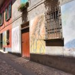 Stock Photo: Alleyway. Dozza. Emilia-Romagna. Italy.