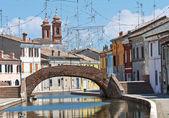 St. Peter's Bridge. Comacchio. Emilia-Romagna. Italy. — Stock Photo