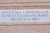 Catedral de san cassiano. comacchio. emilia-romaña. italia. — Foto de Stock