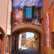 Alleyway. Dozza. Emilia-Romagna. Italy. — Stock Photo #10544455
