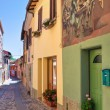 Alleyway. Dozza. Emilia-Romagna. Italy. — Stock Photo #10544499