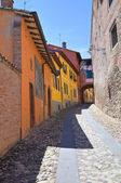 Alleyway. Dozza. Emilia-Romagna. Italy. — Stock Photo