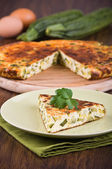 Italian omelette with zucchini. — Stock Photo
