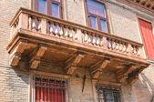Historical Palace. Ferrara. Emilia-Romagna. Italy. — Stock Photo