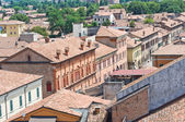 Panoramic view of Ferrara. Emilia-Romagna. Italy. — Stock Photo