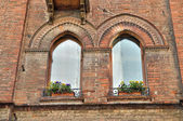 Typical house. Ferrara. Emilia-Romagna. Italy. — Stock Photo