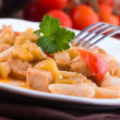 Cavatelli with swordfish and eggplant. — Stock Photo #10641753