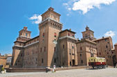 Estense slottet. ferrara. emilia-romagna. italien — Stockfoto