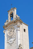 Clocktower. Oria. Puglia. Italy. — Stock Photo