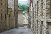 Gränd. Bobbio. Emilia-Romagna. Italien. — Stockfoto