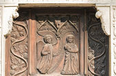 Carved doorway church. — Stock Photo