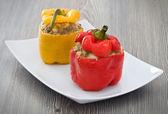Stuffed peppers. — Stock Photo