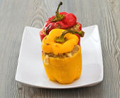 Stuffed peppers. — Stock fotografie