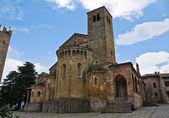 Iglesia colegiata. castell'arquato. emilia-romaña. italia. — Foto de Stock