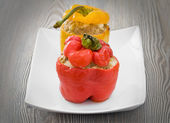 Stuffed peppers. — Stock Photo