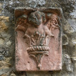 Stock Photo: Wall plaque. Gropparello Castle. Emilia-Romagna. Italy.