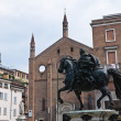 Square of the Horses. Piacenza. Emilia-Romagna. Italy. — Stock Photo