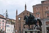Torget av hästarna. piacenza. emilia-romagna. italien. — Stockfoto