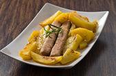 Sausage and potatoes. — ストック写真