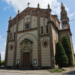St. Lorenzo Church. Gazzola. Emilia-Romagna. Italy. — Stock Photo