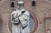 Gian Domenico Romagnosi statue. Piacenza. Emilia-Romagna. Italy. — Stock Photo