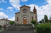St. Savino church. Rezzanello. Emilia-Romagna. Italy. — Stock Photo