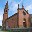Stock Photo: St. Lorenzo Church. Veano. Emilia-Romagna. Italy.