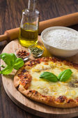 Homemade pizza. — Stock Photo