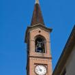 St. Bartolomeo Church. Roccabianca. Emilia-Romagna. Italy. — Stock Photo