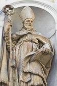 Marble statue. St. Lucia Church. Parma. Emilia-Romagna. Italy. — Stock Photo