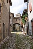 Alleyway. Torrechiara. Emilia-Romagna. Italy. — Stock Photo