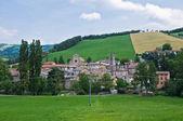 Panoramic view of Pellegrino Parmense. Emilia-Romagna. Italy. — Stock Photo