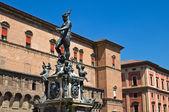 Fuente de Neptuno. Bolonia. Emilia-Romaña. Italia. — Foto de Stock