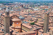 Bologna panoramik manzaralı. Emilia-Romagna. İtalya. — Stok fotoğraf