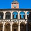 Stock Photo: Archiginnasio of Bologna. Emilia-Romagna. Italy.